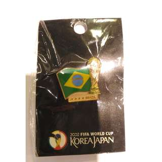 2002日韓 世界杯 盃 巴西 FIFA 足球 徽章 襟章 2002 Korea/Japan FIFA World Cup Football Brazil Pin