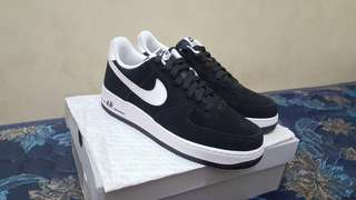 Nike Air Force 1 '07 black white BNIB original rare murah