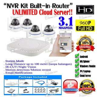NVR Wireless KIT Built-Router Tanpa Ribet
