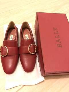 Bally Style圓扣 真皮女裝平底鞋 Chanel prada lv
