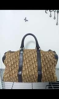 dior vintage duffel bag/ travel bag 絕版 旅行袋