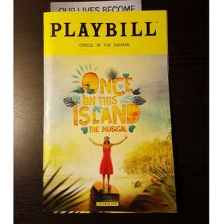 Once On This Island Playbill Starring Lea Salonga