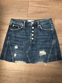 BRAND NEW FREE PEOPLE DENIM SKIRT