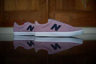 Sepatu new balance original AM210PRR suede soft purple for skate casual skateboarding