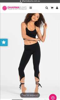 Dharma bums tie up legging xs