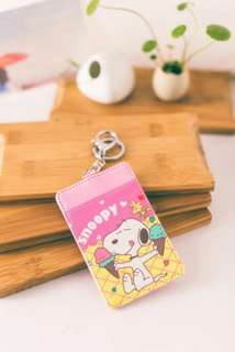 Snoopy Student Bus MRT Card Holder Keychain