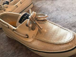 Limited Edition Cream Sequin Sperry Top-Sider