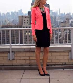 Tahari Neon pink office blazer