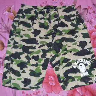 bape camo logo walk short