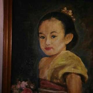 Lukisan Bali Anak Tionghoa