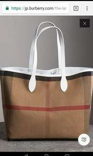 Burberry Reversible Tote Bag