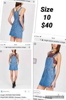 Insight denim pinafore