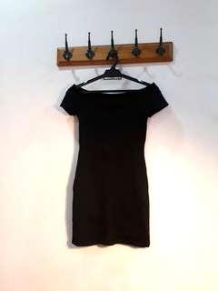 Classic Little Black Off Shoulder Dress from Forever 21