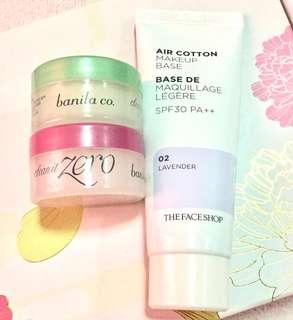 Banila Co. - Clean It Zero Balm + The Face Shop - Air Cotton Makeup Base