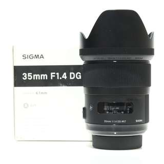 Sigma 35mm F1.4 DG HSM Art Lens (Nikon Mount)