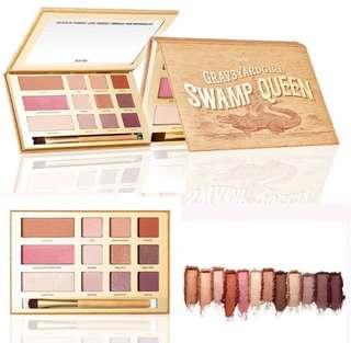 Authentic Tarte Swamp Queen Eye Shadow & Blush Highlighter Cheek Palette With Brush