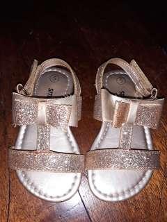 Gold toddler sandals