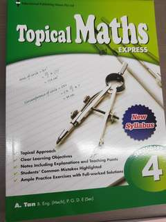 Secondary 4 E Math Practice + Answers Textbook