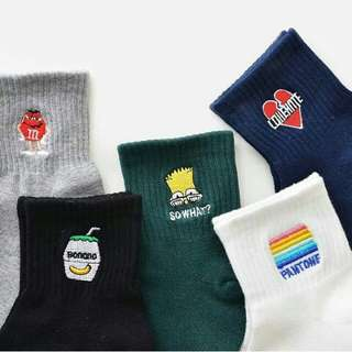 Icon Socks (Buy 5 pairs for only 380.00)