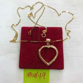 HEART NECKLACE 18K SAUDI GOLD