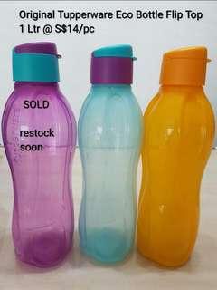 🚚 Original Tupperware Eco Bottle Flip Top - 1litter
