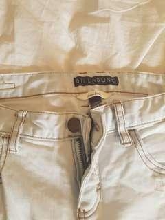 White Billabong Skinny Jeans