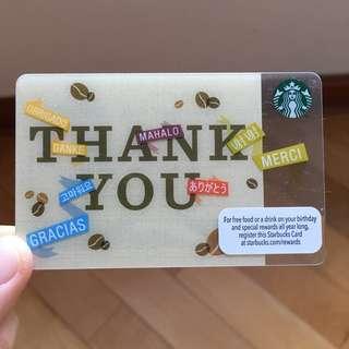 美國星巴克感恩儲值卡🇺🇸US Starbucks thank you card