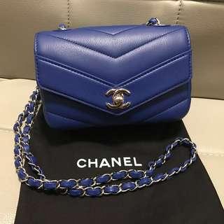 全新Chanel 18CM 荔枝皮