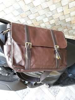 Tas fossil EW estate dark brown preloved
