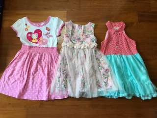 Girl Cocktail Dresses Bundle 4-6yo