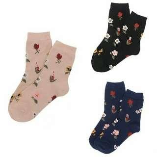 Floral Socks (Buy 3 for only 270.00)