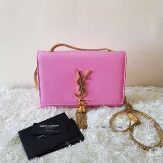 Authentic Yves Saint Laurent Cassandre Small Tassel Crossbody Bag