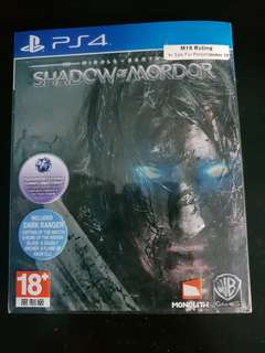 Shadow Of Mordor Steel Cover PS4