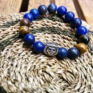 Lion Charm Bracelet lapis lazuli