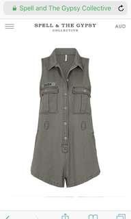💕Spell design Dusk Khaki Boiler suit Jumpsuit 🌿 Small