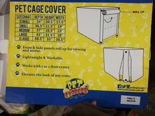 Pet cage cover medium