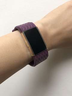 Fitbit Charge 2 Plum Diamond Design Silicone Strap in 'S'