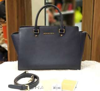 Michael Kors Selma Medium  Navy Blue