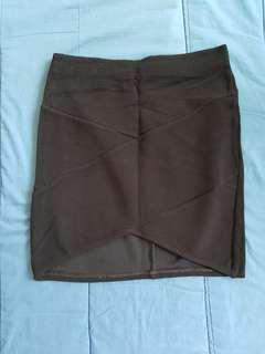 Bershka Black Bandage Skirt