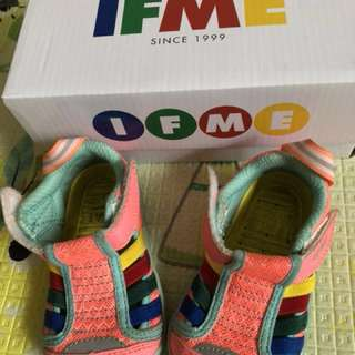 🚚 IFME 女童 水涼鞋 7成新,12.5cm,橘粉色,原價約1100購入