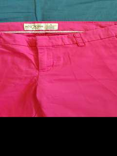 Pink Stretchable Straightcut Slacks/Pants