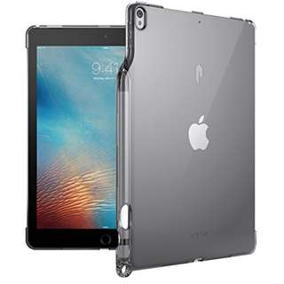 Poetic Lumos Flexible Soft Transparent Ultra-Thin Impact Resistant TPU Case for Apple iPad Pro 10.5 Transparent Gray