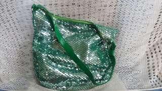 Green Sequined Shoulder Bag