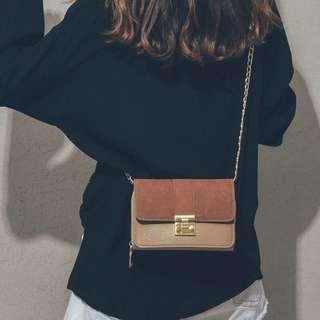 时尚撞色百搭斜挎包包