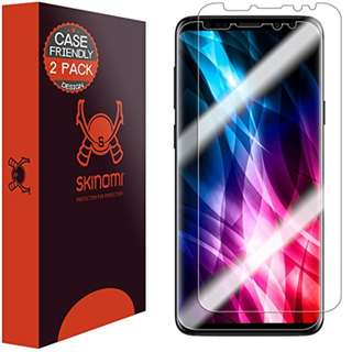 Galaxy S9 Screen Protector (Case Friendly, 2-Pack), Skinomi TechSkin Screen Protector for Galaxy S9 [Clear HD][Anti-Bubble Film]