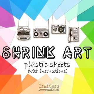 🚚 Shrink Art Plastic Sheets / Shrink Art Films / crafts / DIY / brooches / earring / personalized name tag / key chain / label / emoji pins / buttons / bracelets / pendants / jewelry / accessories / decor / party favors / handmade / illustration