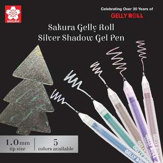 Sakura Gelly Roll Silver Shadow Gel Pen - 1.0 mm - 5 Color Available