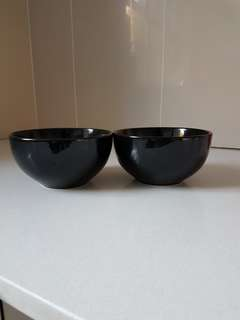 Ikea black bowls