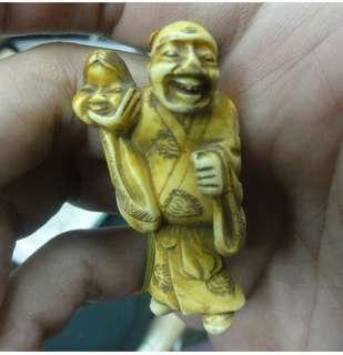 Ivory japan 古董 牙雕 明冶