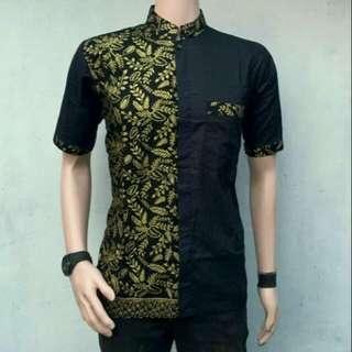 Baju koko kombinasi batik